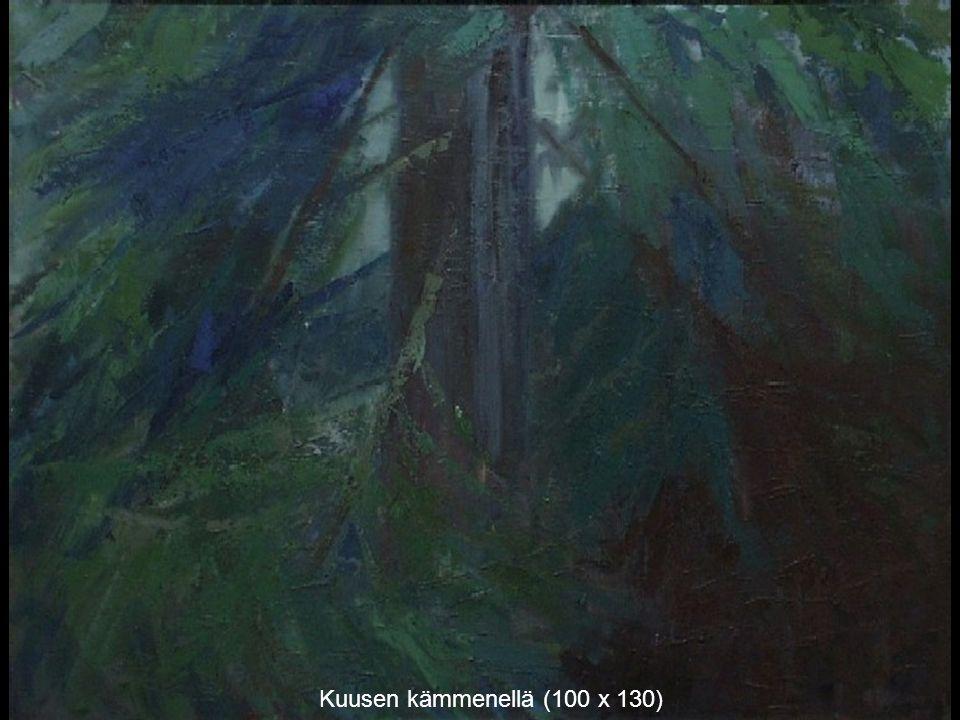 Kuusen kämmenellä (100 x 130)