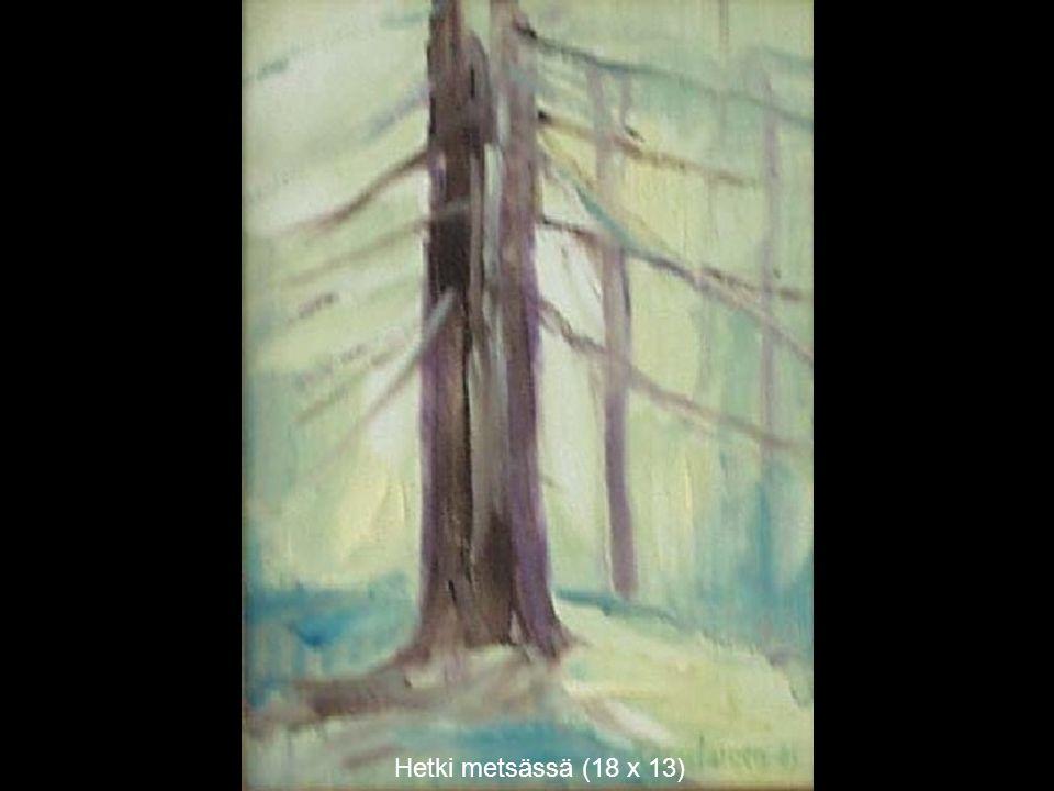 Hetki metsässä (18 x 13)