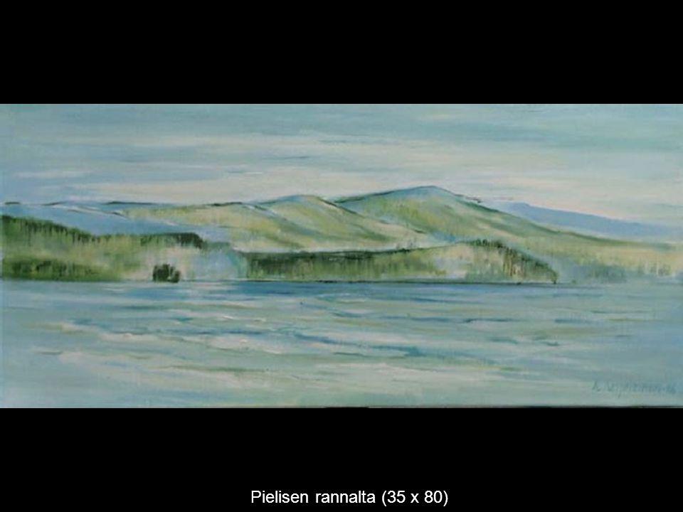 Pielisen rannalta (35 x 80)