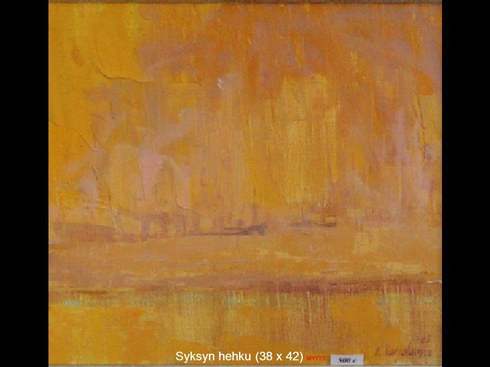 Syksyn hehku (38 x 42) MYYTY