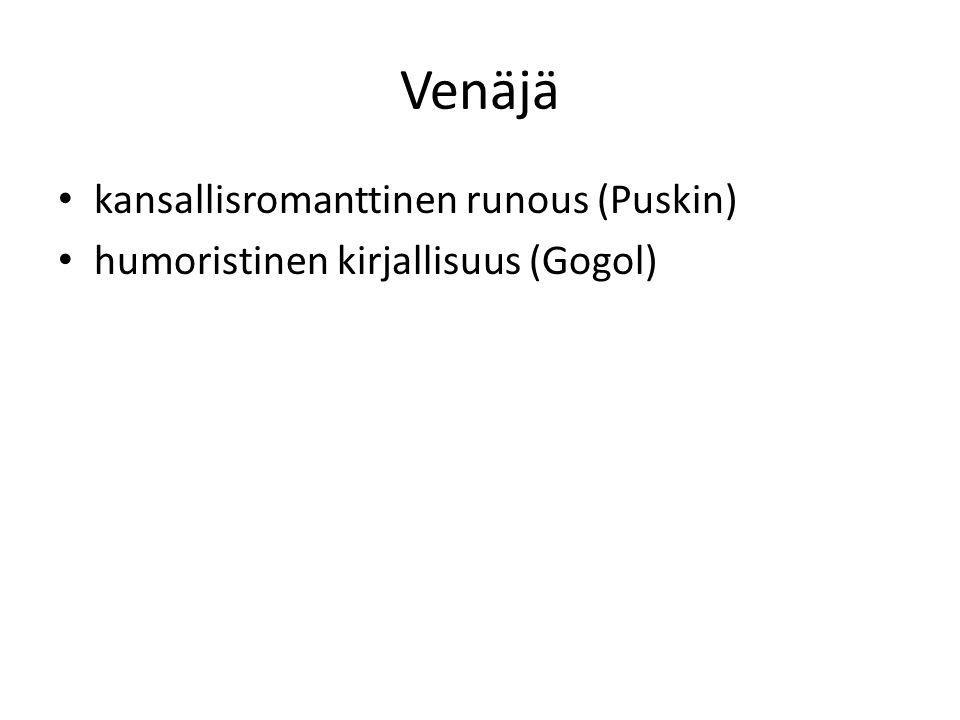 Venäjä kansallisromanttinen runous (Puskin)