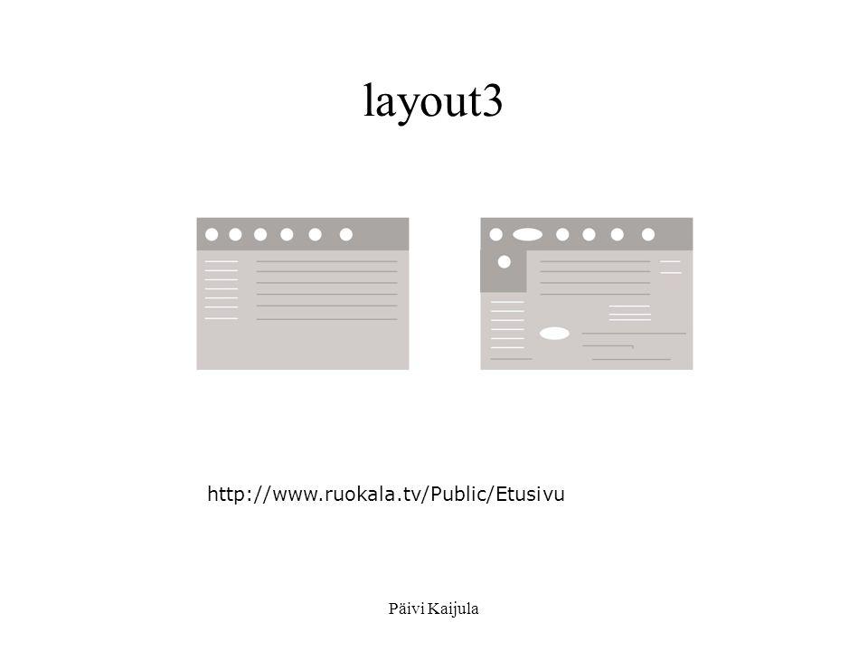 layout3 http://www.ruokala.tv/Public/Etusivu Päivi Kaijula