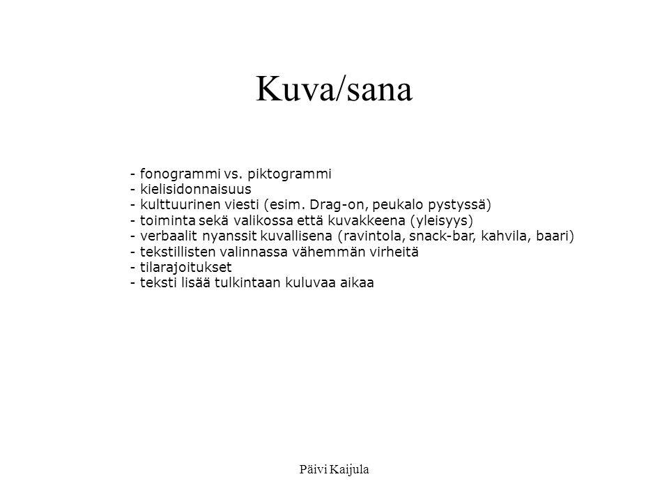 Kuva/sana - fonogrammi vs. piktogrammi kielisidonnaisuus