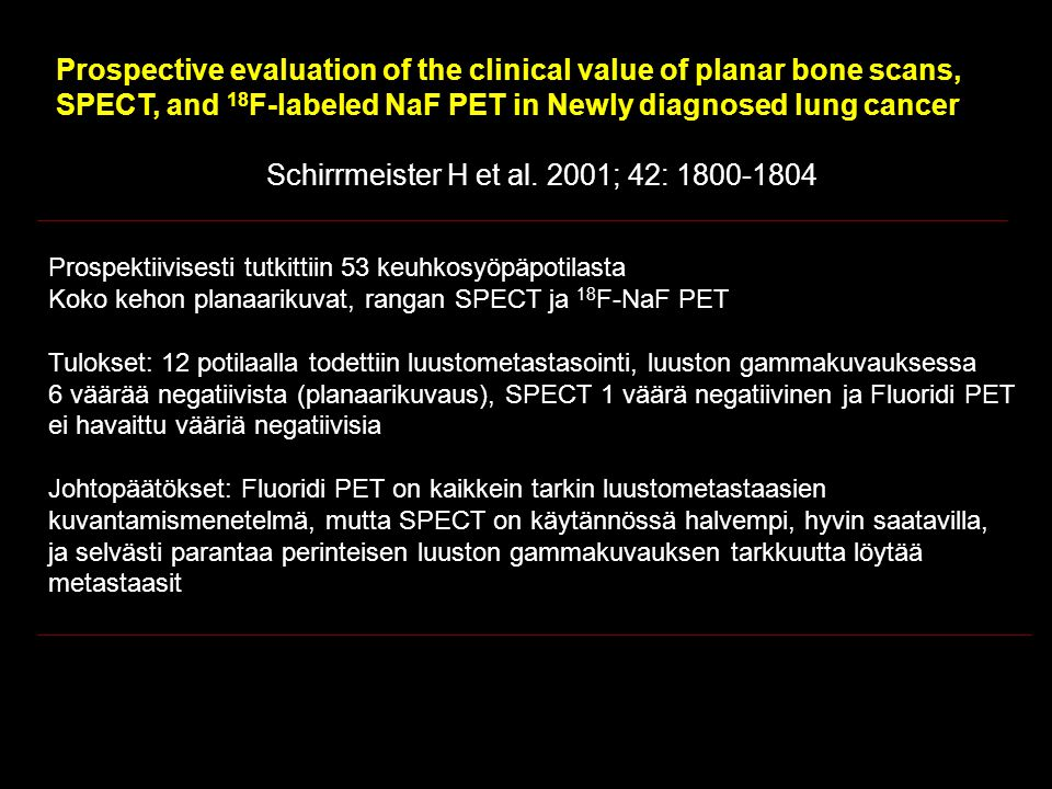 Prospective evaluation of the clinical value of planar bone scans,