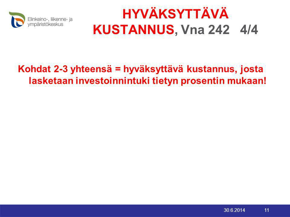 HYVÄKSYTTÄVÄ KUSTANNUS, Vna 242 4/4