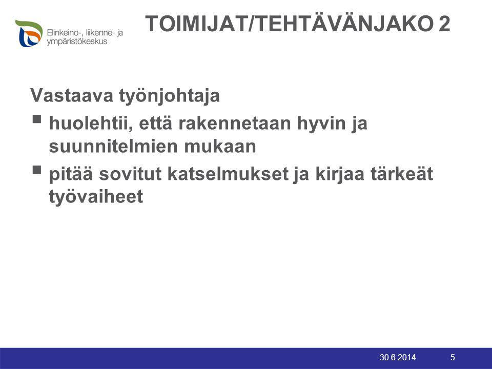 TOIMIJAT/TEHTÄVÄNJAKO 2