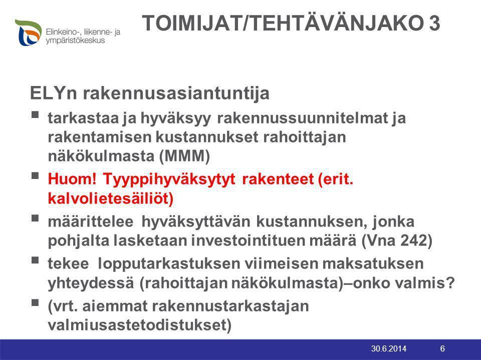 TOIMIJAT/TEHTÄVÄNJAKO 3