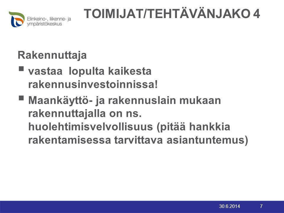 TOIMIJAT/TEHTÄVÄNJAKO 4