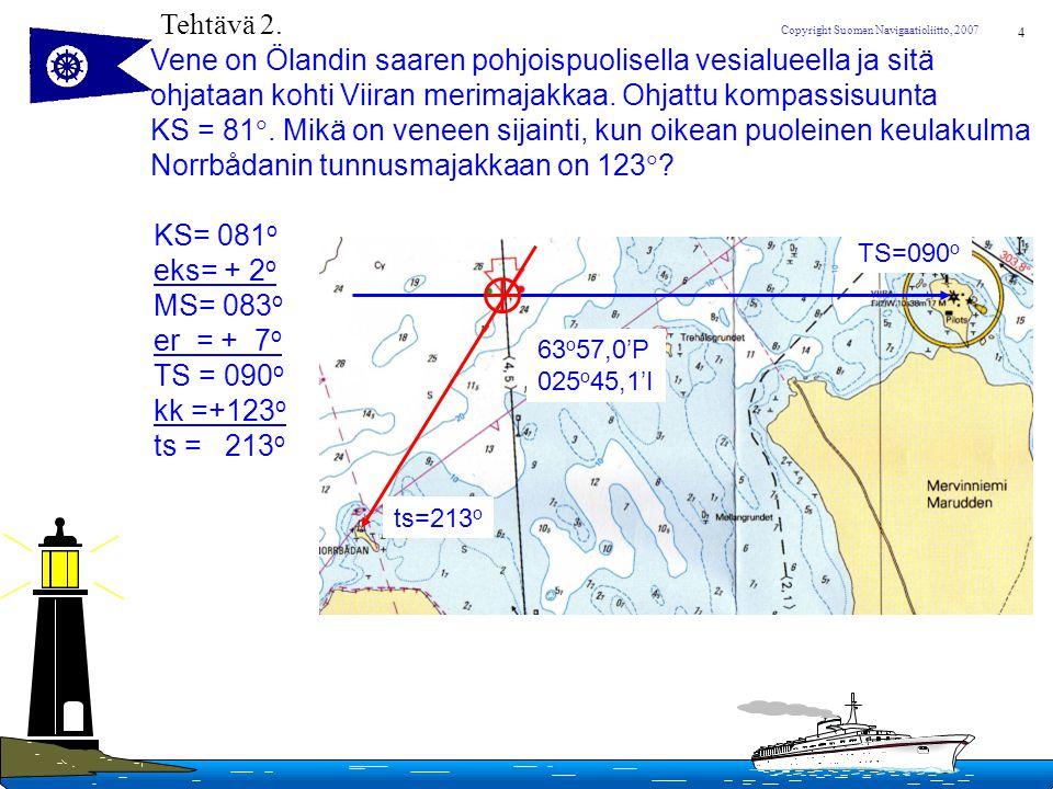 Vene on Ölandin saaren pohjoispuolisella vesialueella ja sitä