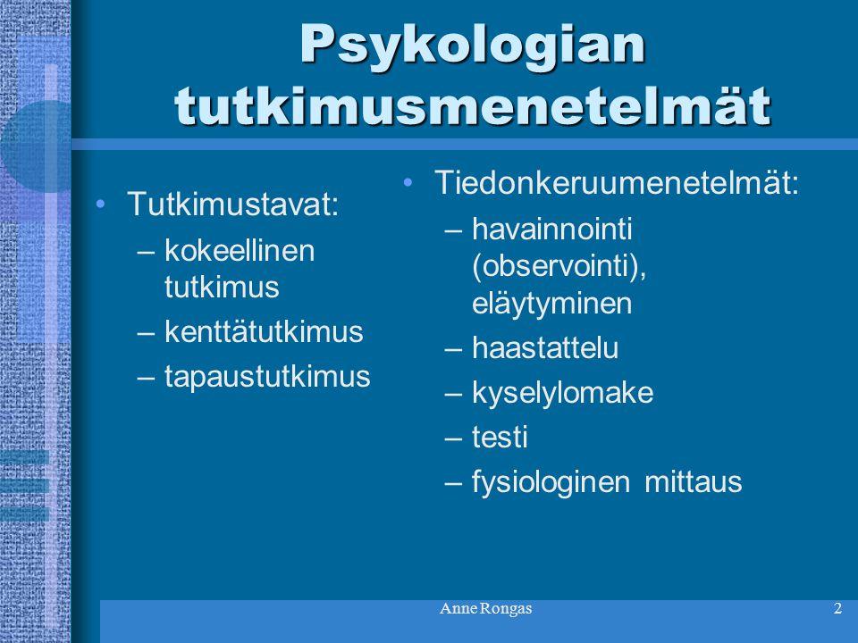 Psykologian tutkimusmenetelmät
