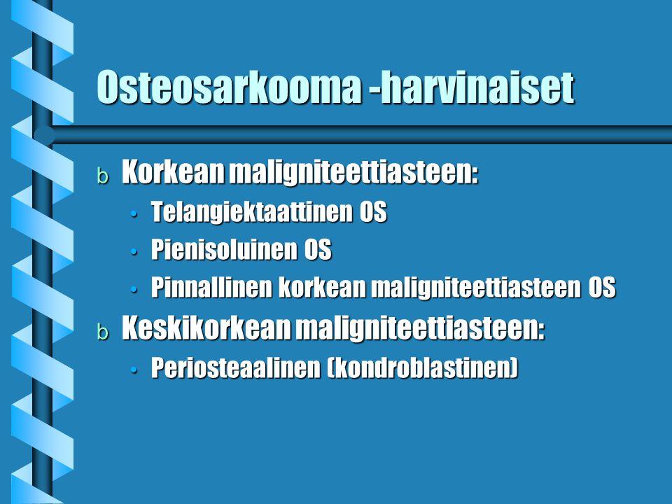 Osteosarkooma -harvinaiset