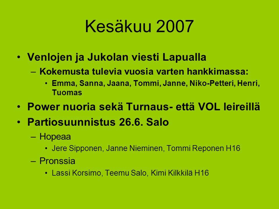 Kesäkuu 2007 Venlojen ja Jukolan viesti Lapualla