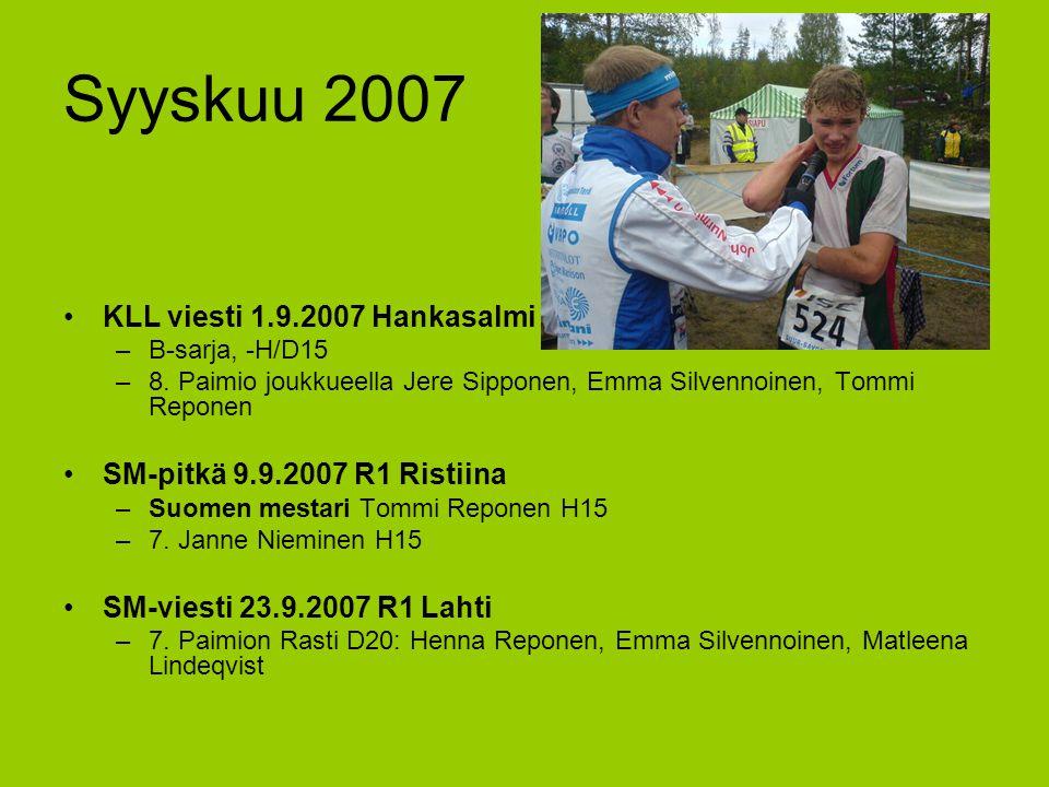 Syyskuu 2007 KLL viesti 1.9.2007 Hankasalmi