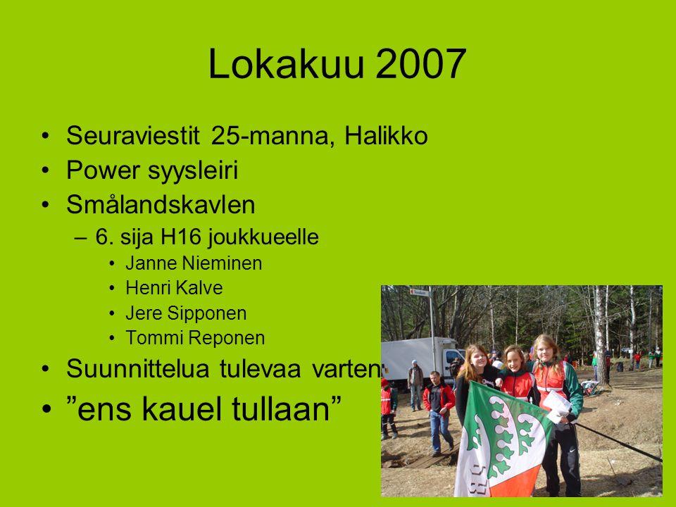 Lokakuu 2007 ens kauel tullaan Seuraviestit 25-manna, Halikko