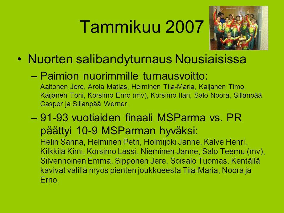 Tammikuu 2007 Nuorten salibandyturnaus Nousiaisissa