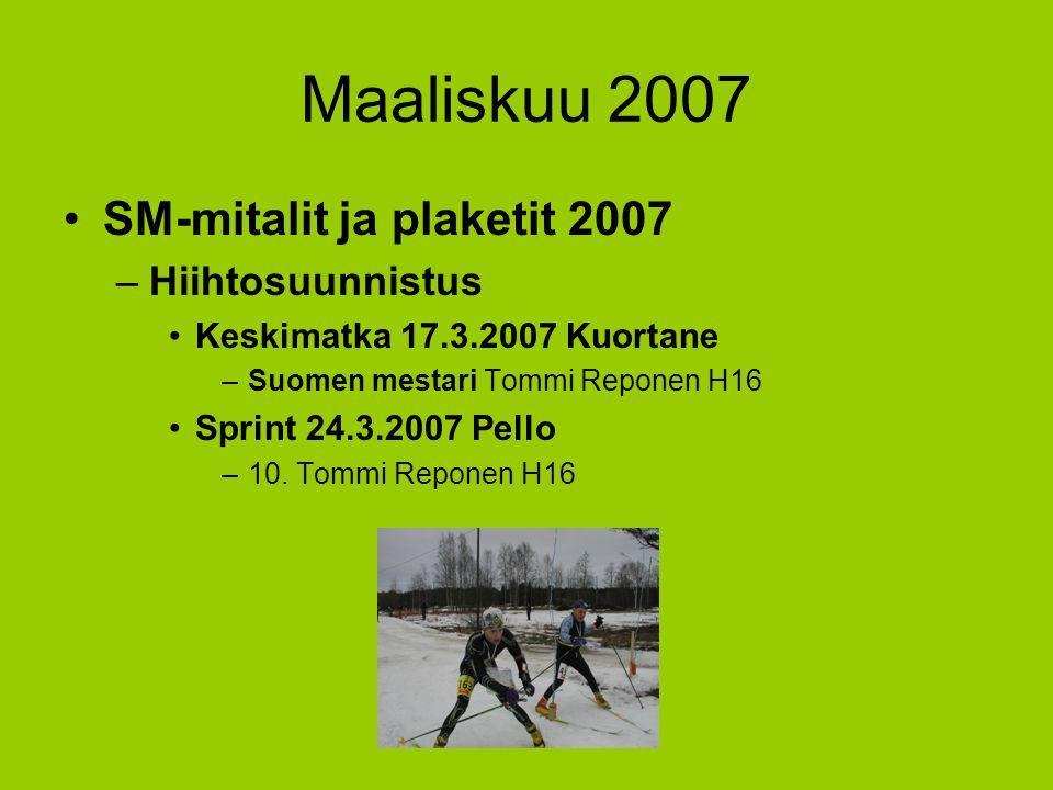 Maaliskuu 2007 SM-mitalit ja plaketit 2007 Hiihtosuunnistus