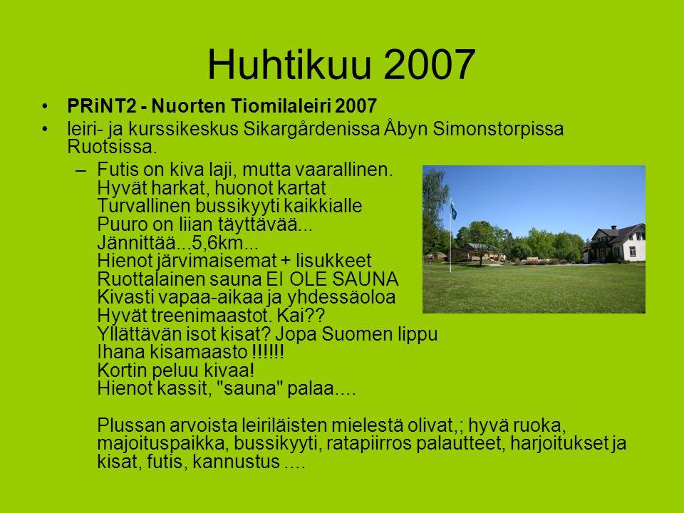 Huhtikuu 2007 PRiNT2 - Nuorten Tiomilaleiri 2007