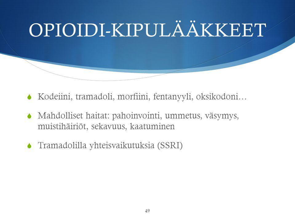 OPIOIDI-KIPULÄÄKKEET