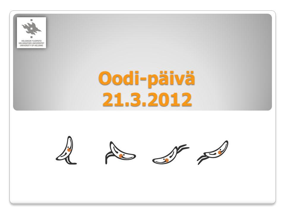 Oodi-päivä 21.3.2012