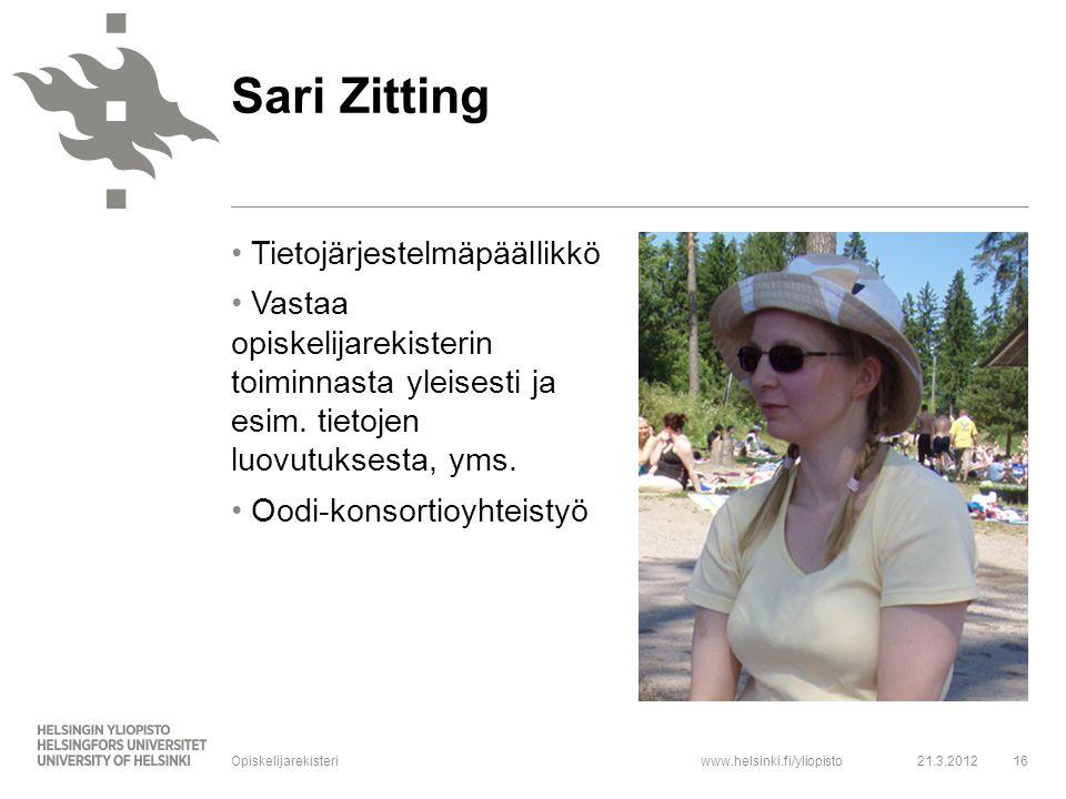 Sari Zitting Tietojärjestelmäpäällikkö