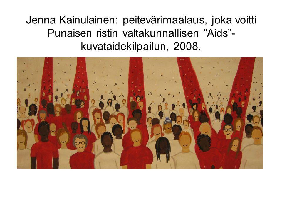 Jenna Kainulainen: peitevärimaalaus, joka voitti Punaisen ristin valtakunnallisen Aids -kuvataidekilpailun, 2008.