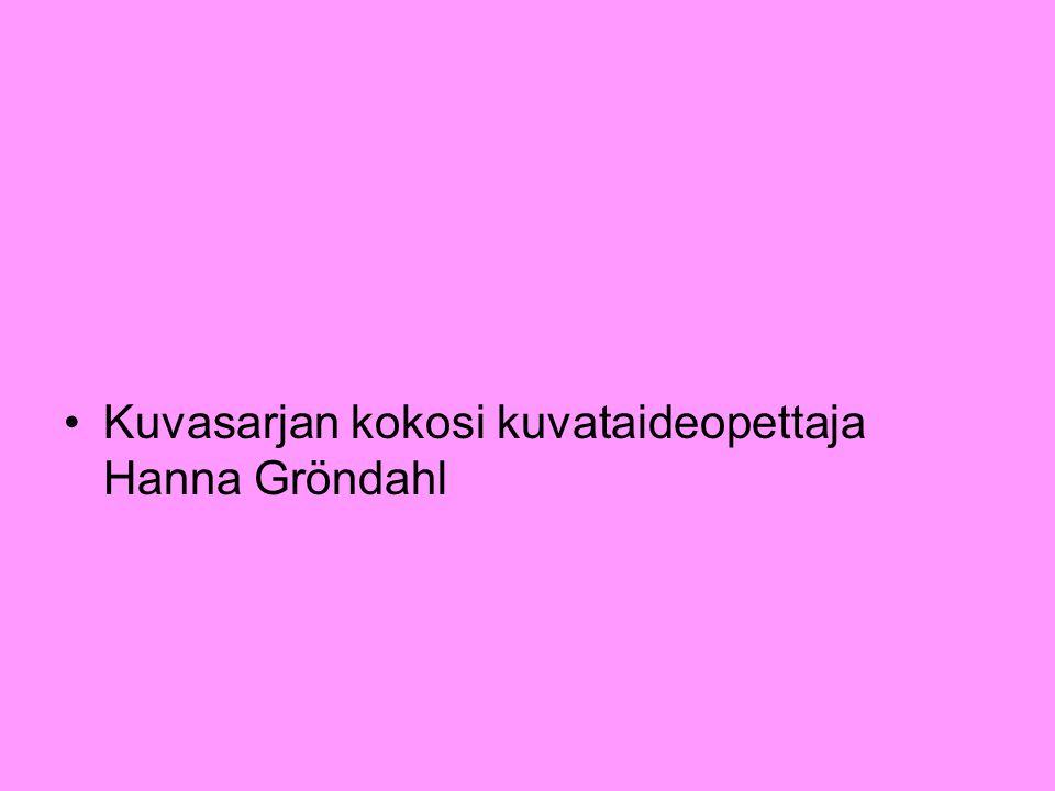 Kuvasarjan kokosi kuvataideopettaja Hanna Gröndahl