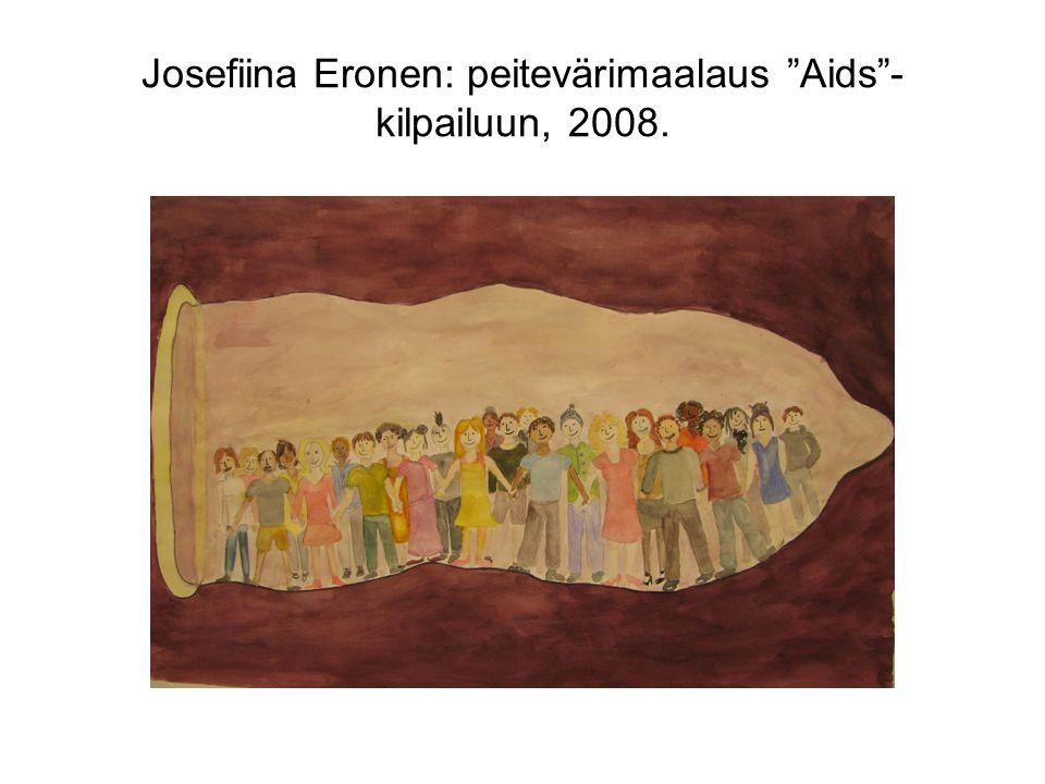 Josefiina Eronen: peitevärimaalaus Aids -kilpailuun, 2008.