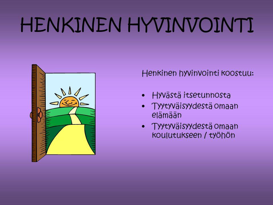 HENKINEN HYVINVOINTI Henkinen hyvinvointi koostuu: