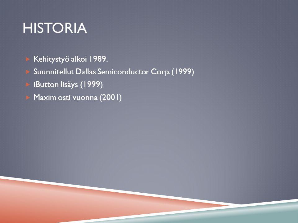 Historia Kehitystyö alkoi 1989.