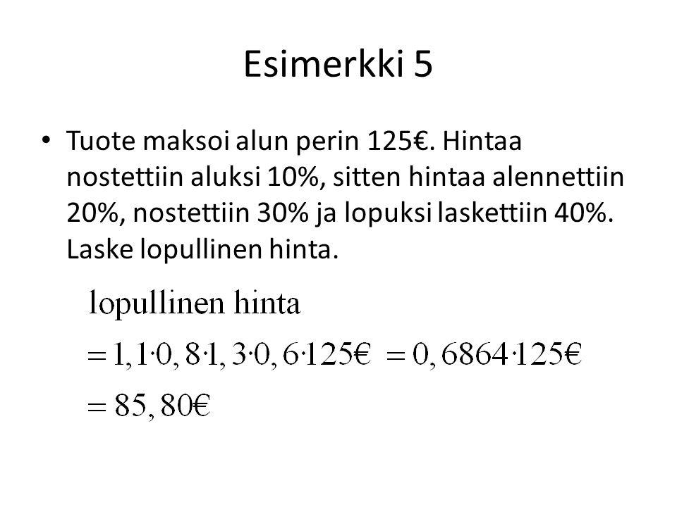 Esimerkki 5