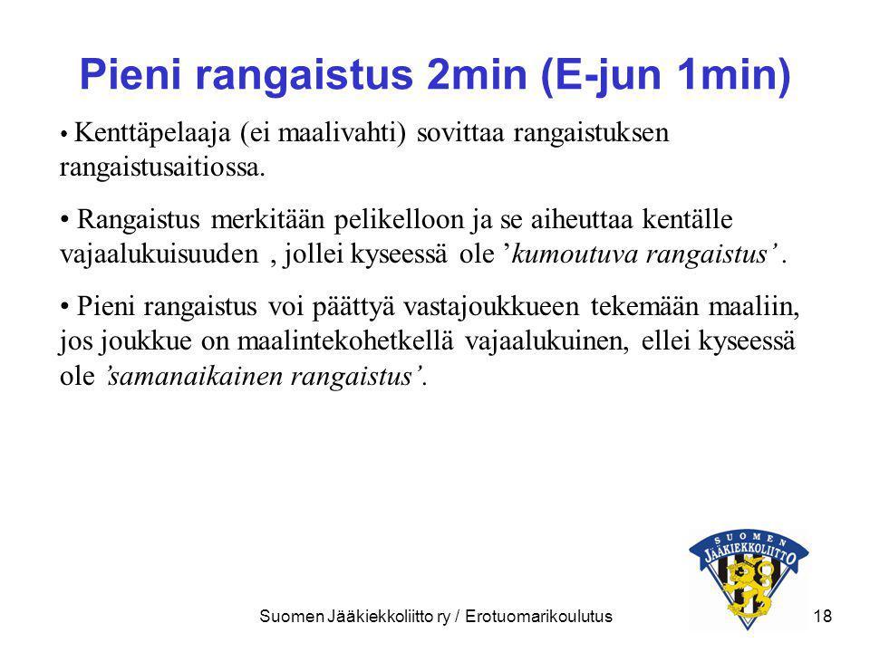 Pieni rangaistus 2min (E-jun 1min)