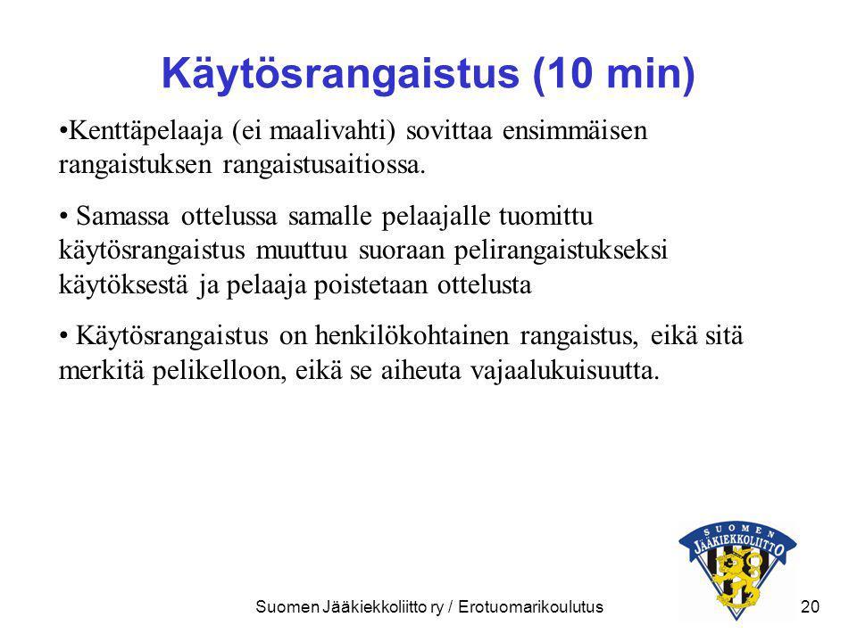 Käytösrangaistus (10 min)