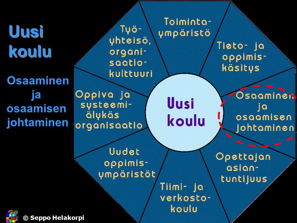 Uusi koulu Osaaminen ja osaamisen johtaminen © Seppo Helakorpi. - ppt lataa