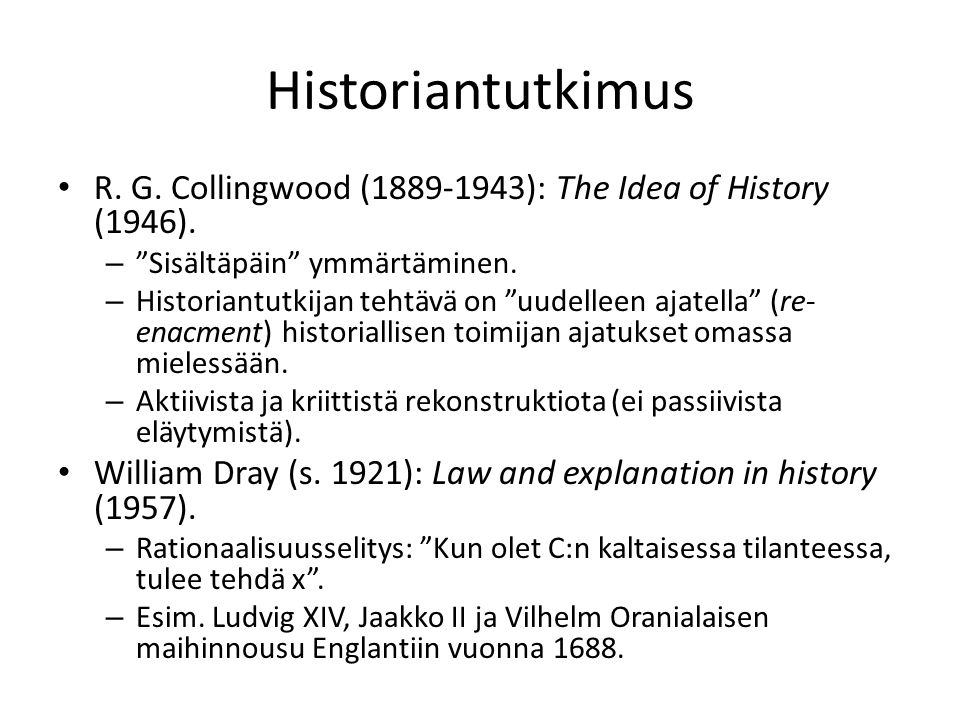the idea of history collingwood pdf