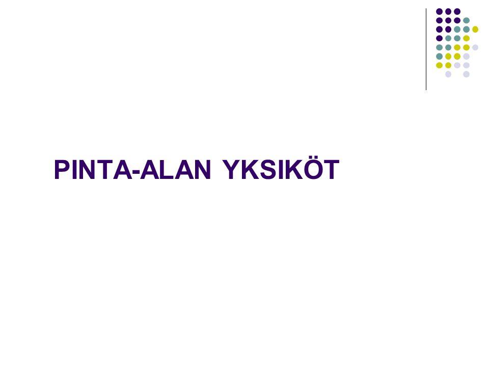 PINTA-ALAN YKSIKÖT