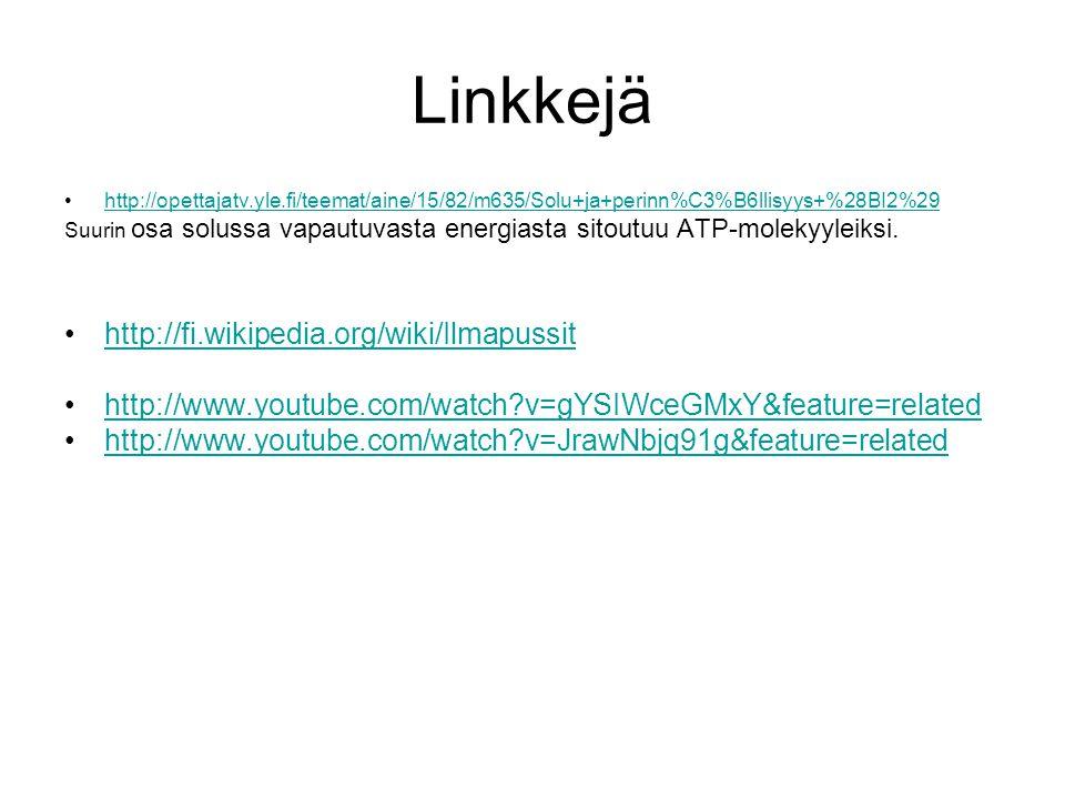 Linkkejä http://fi.wikipedia.org/wiki/Ilmapussit