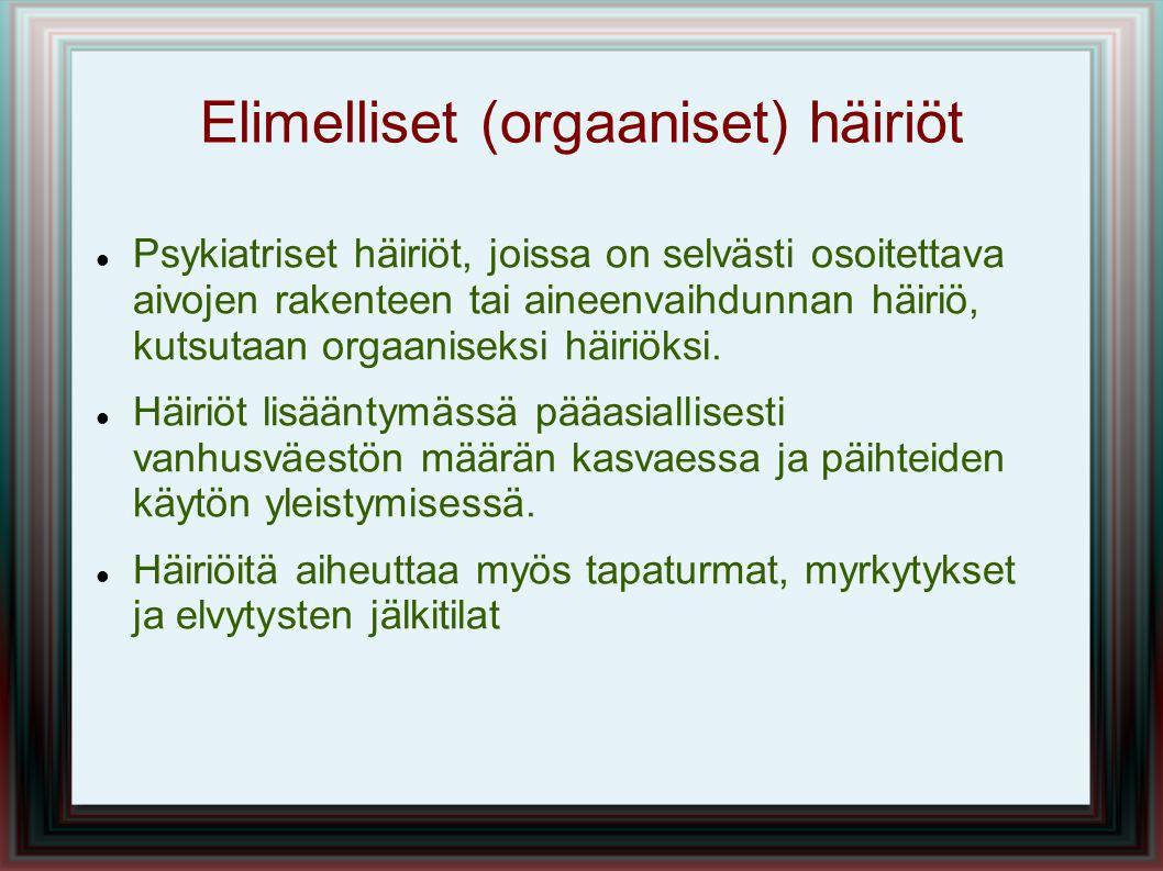 Elimelliset (orgaaniset) häiriöt