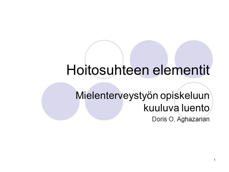 Hoitosuhteen elementit