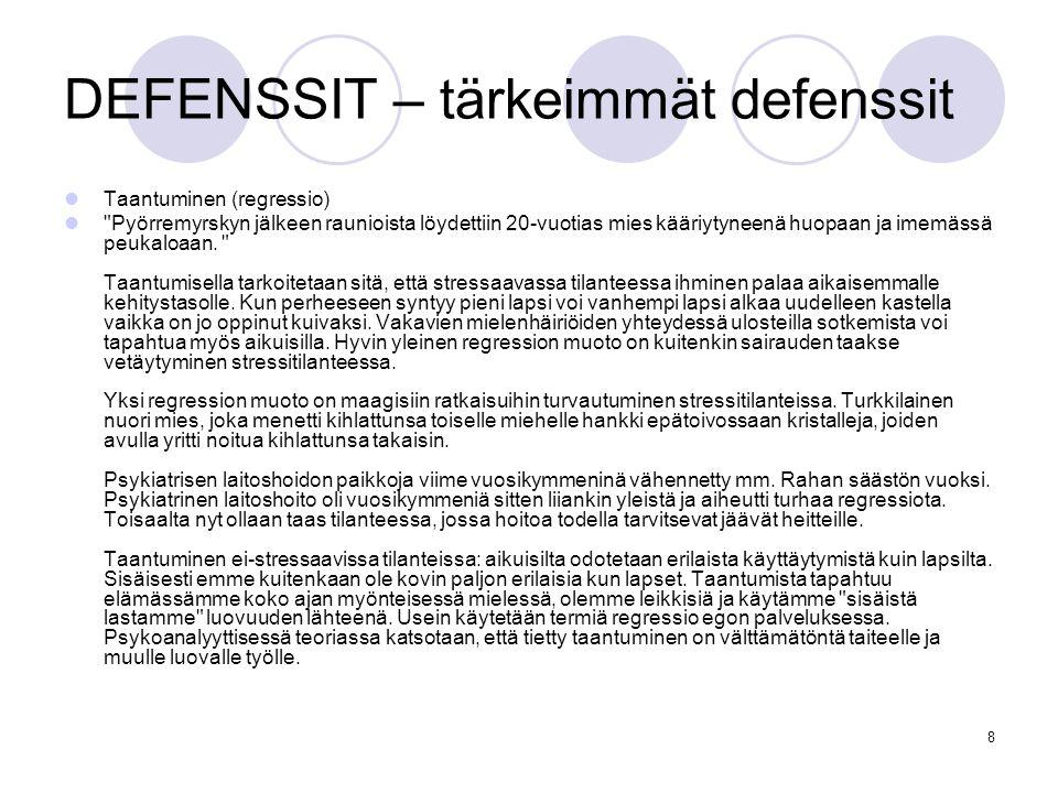 DEFENSSIT – tärkeimmät defenssit