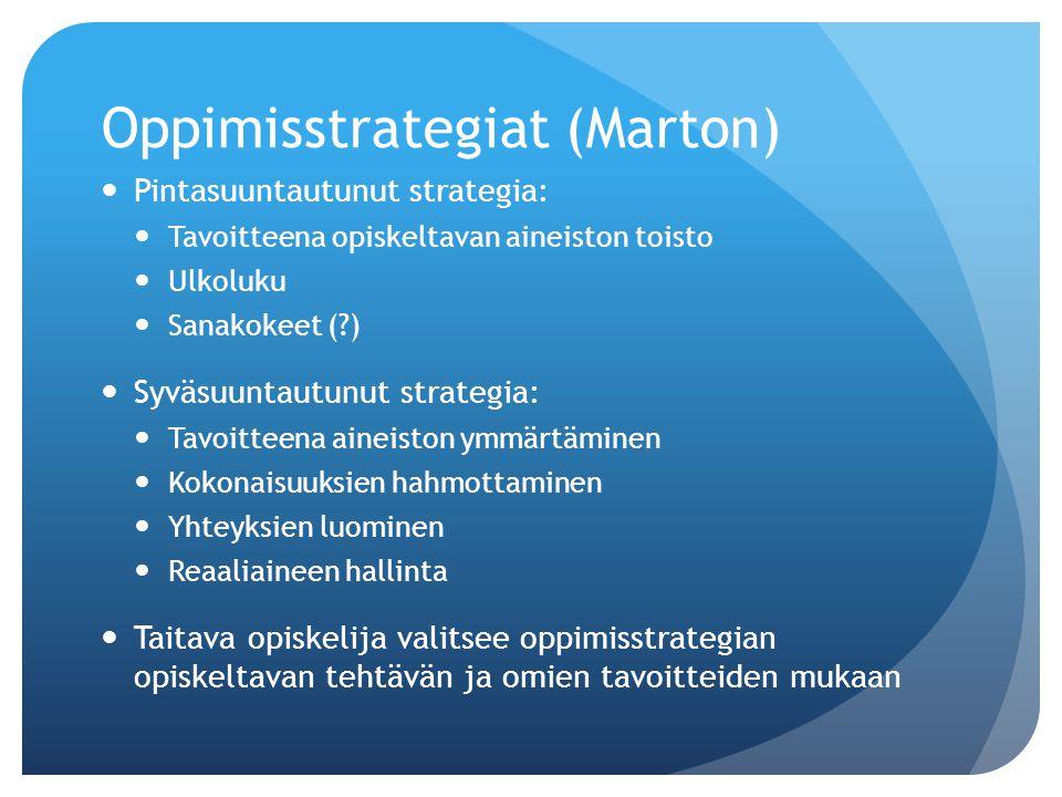 Oppimisstrategiat (Marton)