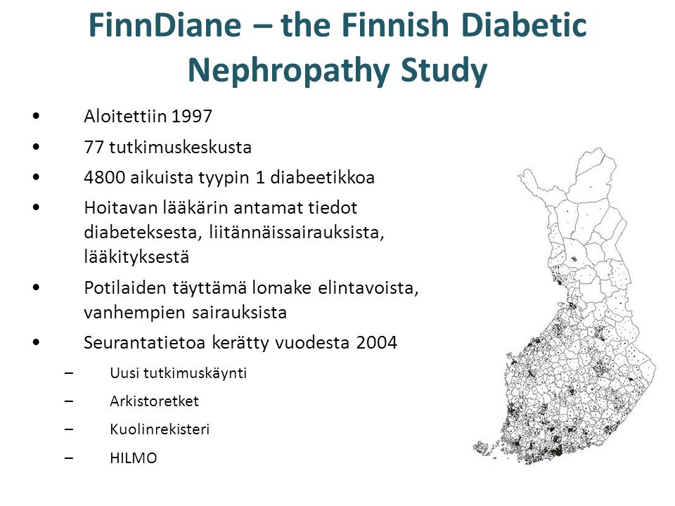 FinnDiane – the Finnish Diabetic Nephropathy Study