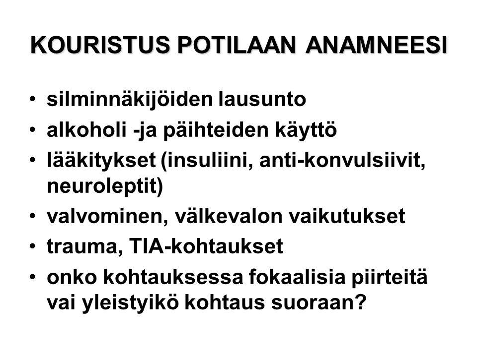 KOURISTUS POTILAAN ANAMNEESI