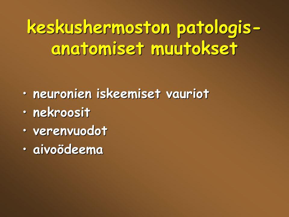 keskushermoston patologis-anatomiset muutokset