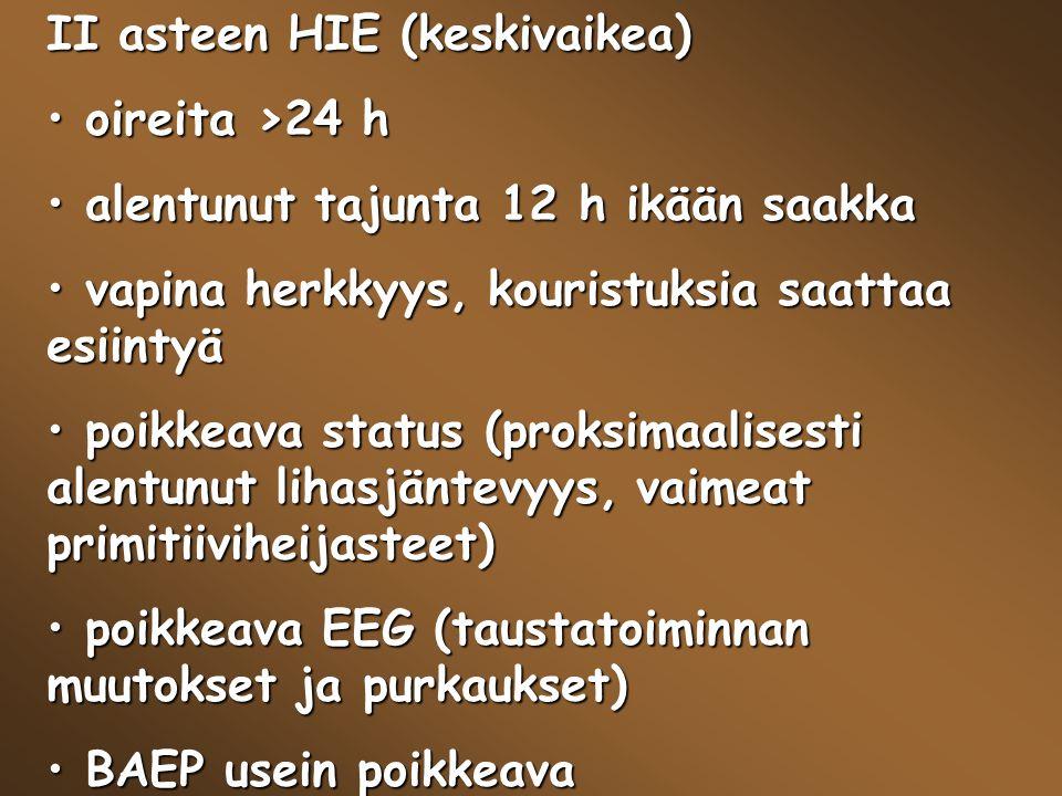 II asteen HIE (keskivaikea)