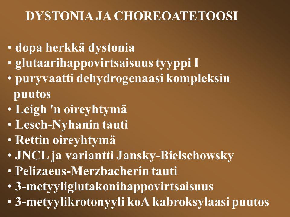 DYSTONIA JA CHOREOATETOOSI