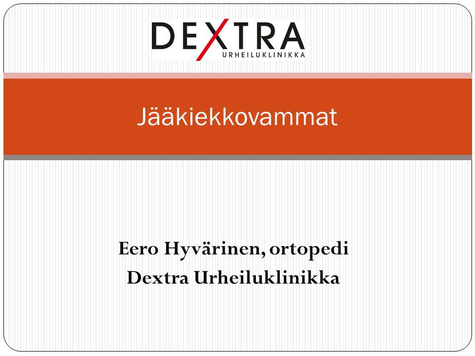 Eero Hyvärinen, ortopedi Dextra Urheiluklinikka