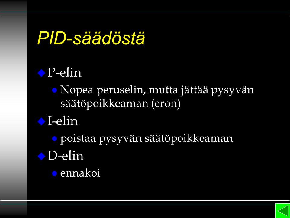PID-säädöstä P-elin I-elin D-elin
