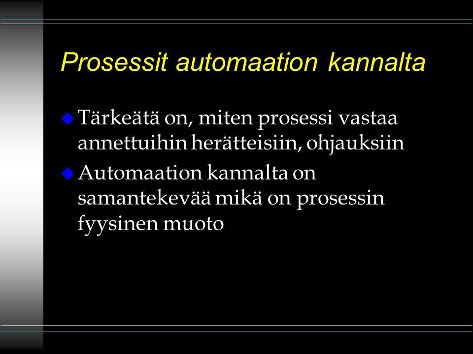 Prosessit automaation kannalta