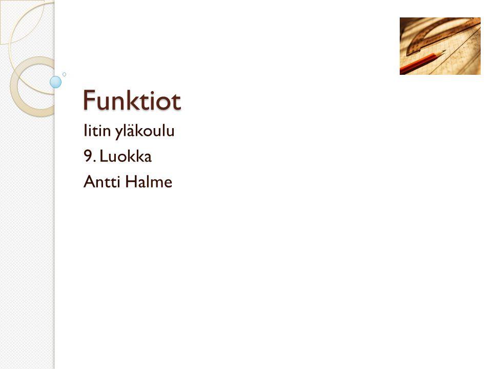 Iitin yläkoulu 9. Luokka Antti Halme
