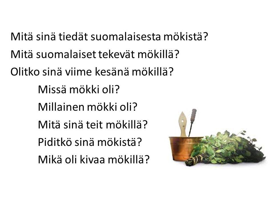 Mitä sinä tiedät suomalaisesta mökistä